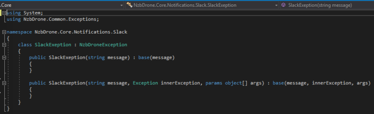 NDepend Invalid Exception